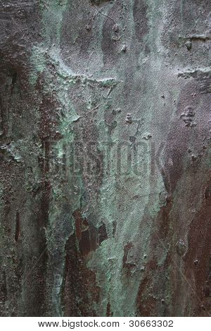 Bronze Surface with Verdigris