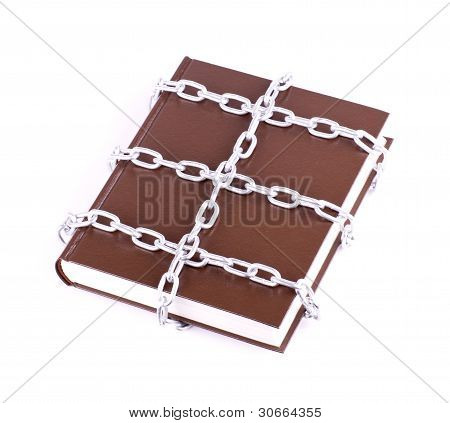 Brown book is linked chain