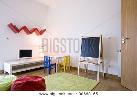 Modern design interior with elegant designed furniture (empty interior)