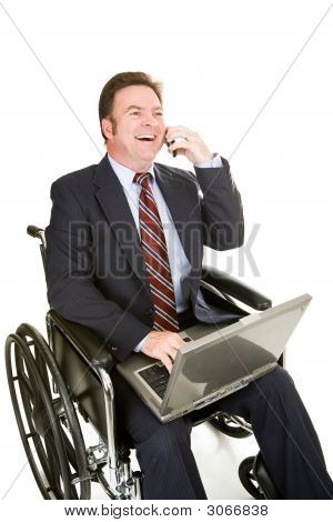 Disabled Businessman - Pleasant Chat