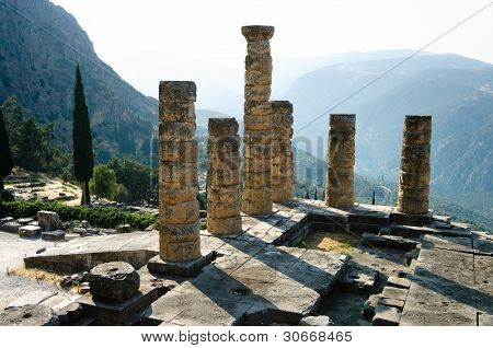 temple of Apollo in oracle Delphi, Greece