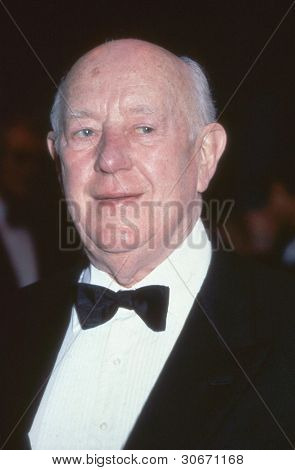 LONDON - CIRCA SEPTEMBER 1991: Sir Alec Guinness, veteran British actor, attends an awards ceremony circa September 1991 in London. He died in August 2000.