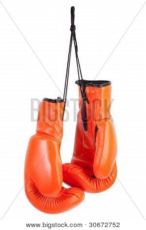 Pair Of Orange Boxing Gloves