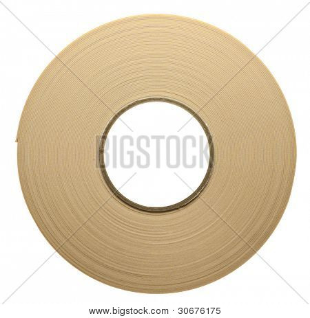 Roll of duplex adhesive tape, isolated