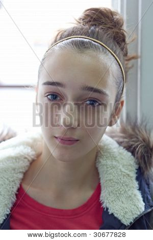 Retrato de una niña adolescente