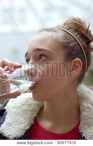 Teenage Girl Drinking Water