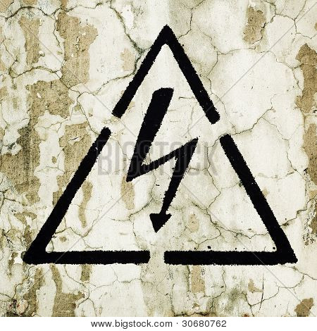 Warning Sign On The Wall - Electricity