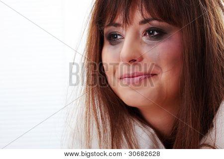 Abused teen girl