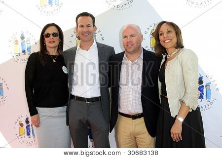 LOS ANGELES, CA - MAR 4: Laurie Zaks, Darryl Frank, Justin Falvey, Kelly Goode at the I Have A Dream Foundation's 14th Annual Dreamers Brunch on March 4, 2012 in Los Angeles, California