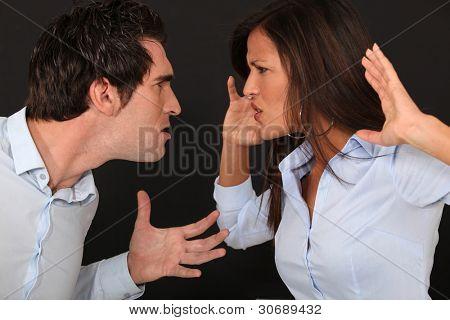 violent couple dispute
