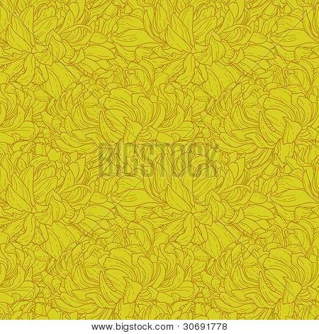 Patrones sin fisuras con crisantemo