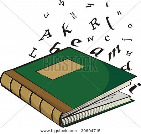 school textbook - the letters and words