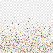 Festive Confetti. Celebration Stars. Colorful Confetti On Transparent Background. Classy Festive Ove poster
