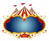 stock photo of school carnival  - Sign circus - JPG