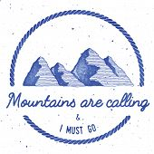 Mountain Adventure And Expedition Insignia Badge Collection. Outdoor Expedition Logo. Climbing Stamp poster