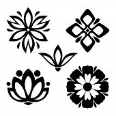 Set Of Flower Icon Vector Flat On White Background. Flower Icon Image, Flower Icon Trendy And Modern poster