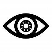 Eye Icon Isolated On White Background. Eye Icon In Trendy Design Style. Eye Vector Icon Modern And S poster