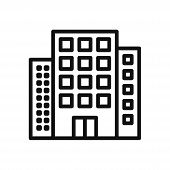 Buildings Icon Isolated On White Background. Buildings Icon In Trendy Design Style. Buildings Vector poster