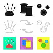 Vector Illustration Of Craft And Handcraft Sign. Collection Of Craft And Industry Vector Icon For St poster