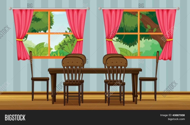 Vectores y fotos en stock de ilustraci n de una mesa de for Dining room y sus partes