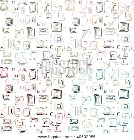 seamless retro squares vector pattern