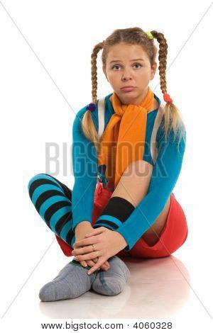 Sad Girl In Colour Clothes