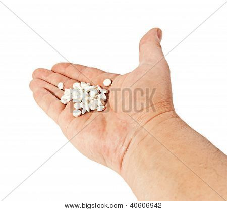 White Round Pills On Hand