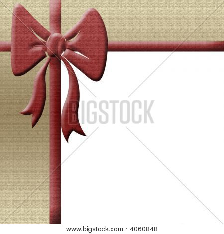 Textured Border With Red Bow