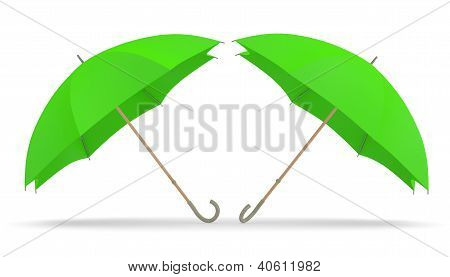 Umbrella. Two 3D Green Models