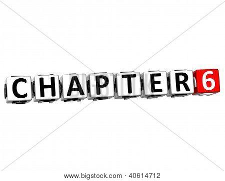 3D Chapter Button Click Here Block Text