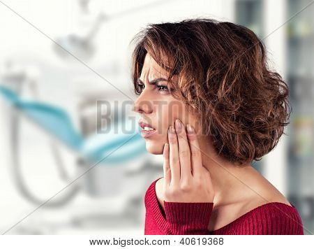 Girl With A Painful Tooth