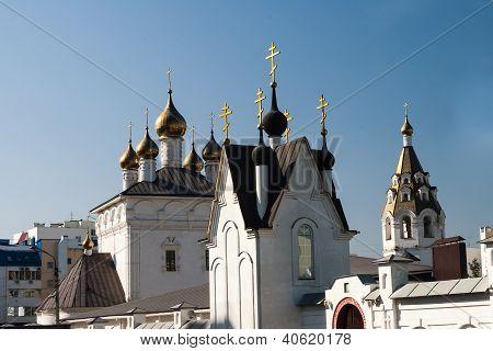 Temple On The Blue Sky In Belgorod