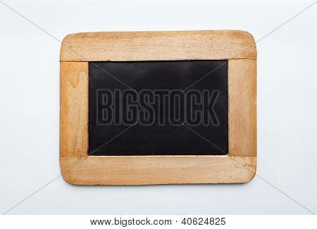 Vintage  Wooden Frame Blank Slate, Isolated