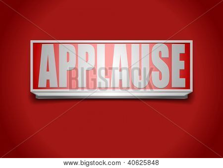 detailed illustration of a red applause sign