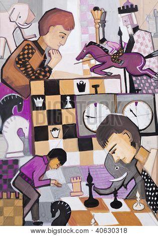 Spiel im Schach