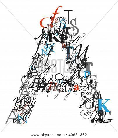Letter A, Alphabet From Letters