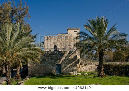 Old Castle Under Blue Sky