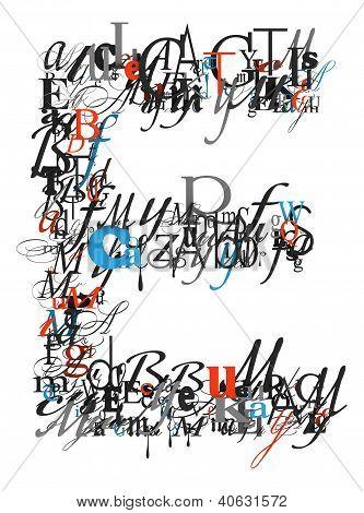 Letter E, Alphabet From Letters
