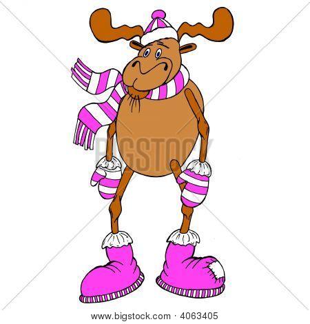 Christmas Reindeer Girl