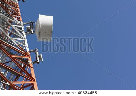 Part Of A Tower With Antennas
