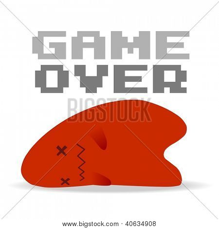 Game Over. Simple Vector illustration