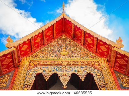 Buddhist Temple Architecture Roof