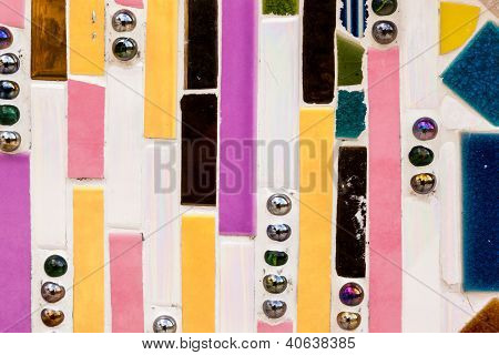 Colorful Tile Striped Pattern Background