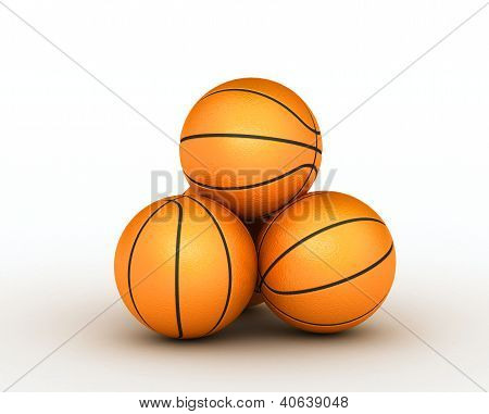 Stack Few Of Piled Up Basketball Balls