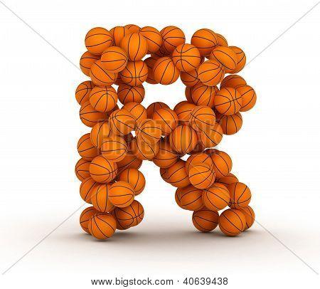 Letter R, Basketball Alphabet
