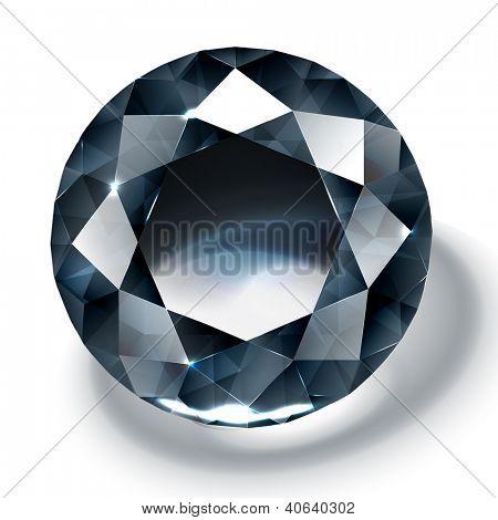 Black diamond realistic illustration - raster version