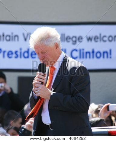 Bill Clinton Looking Down