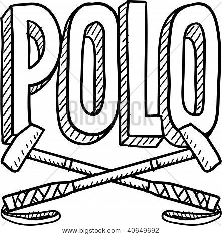 Polo sports sketch