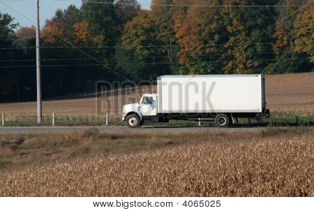 Plain White Moving Truck