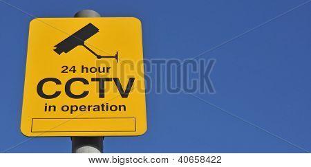 Sinal de aviso de CFTV